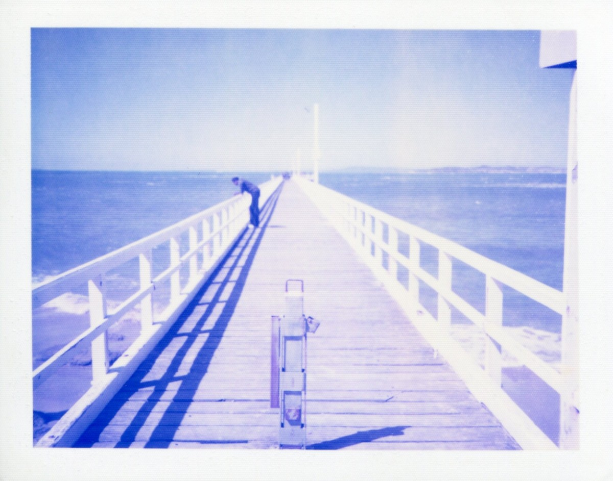 Point Lonsdale pier | Polaroid Colorpack II | Polaroid Blue